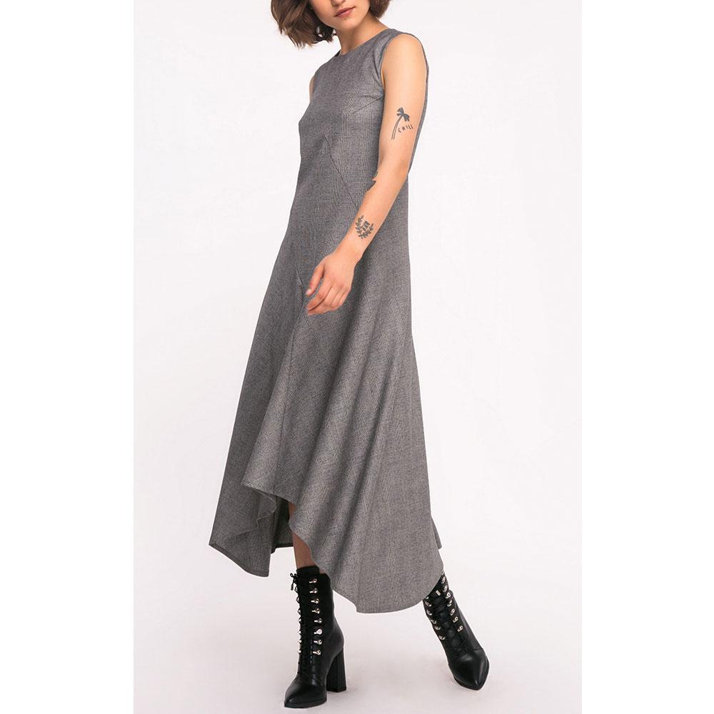Ассиметричное платье Shako серого цвета