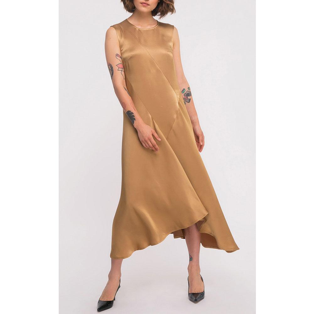 Золотистое платье Shako с ассиметричным низом