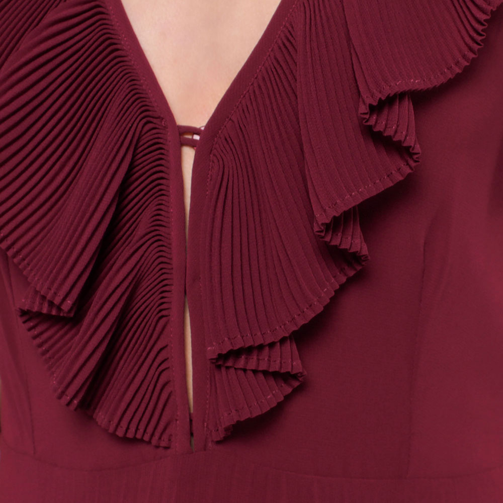 Длинное платье Twin-Set с плиссированной юбкой