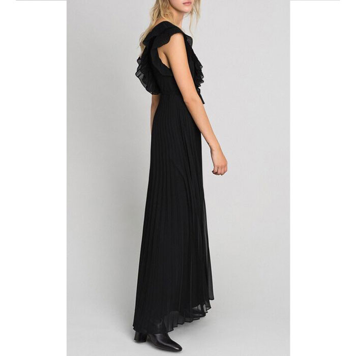 Плиссированное платье Twin-Set с открытой спиной