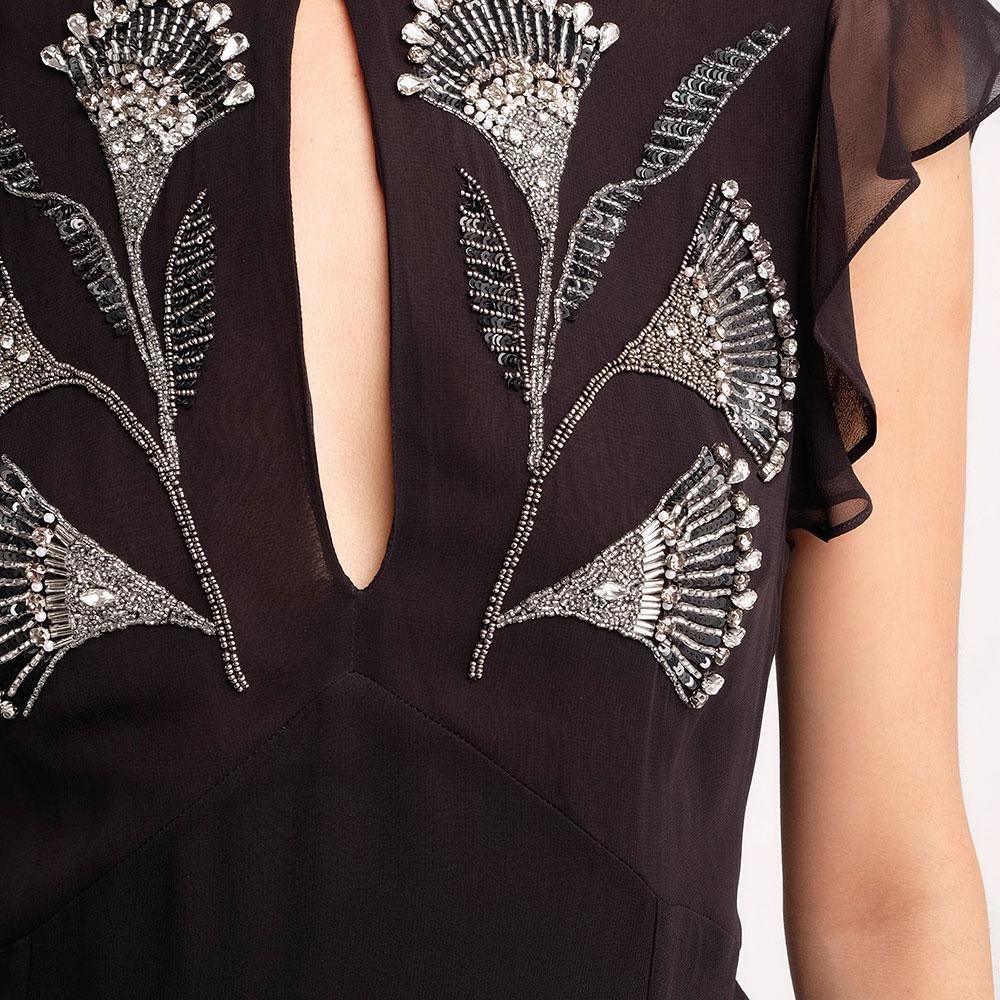 Черное платье-миди Twin-Set с открытой спиной