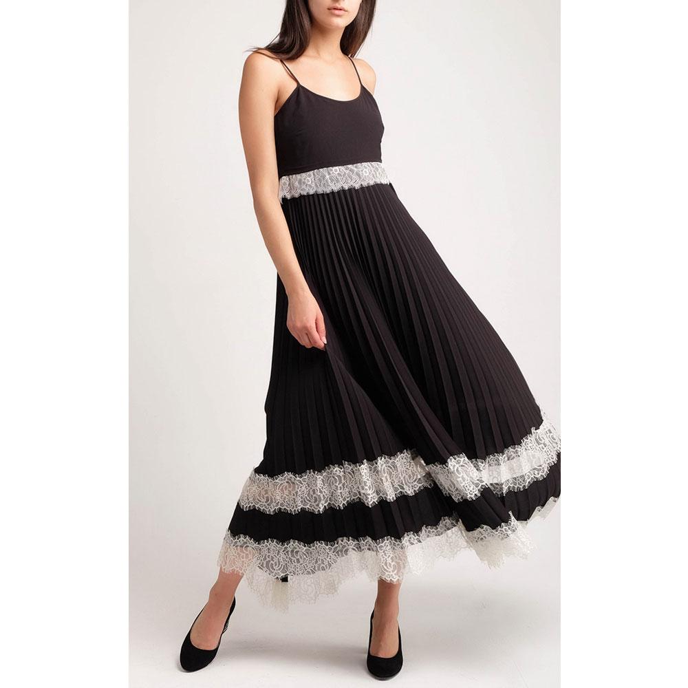 Платье-миди Twin-Set с плиссированной юбкой