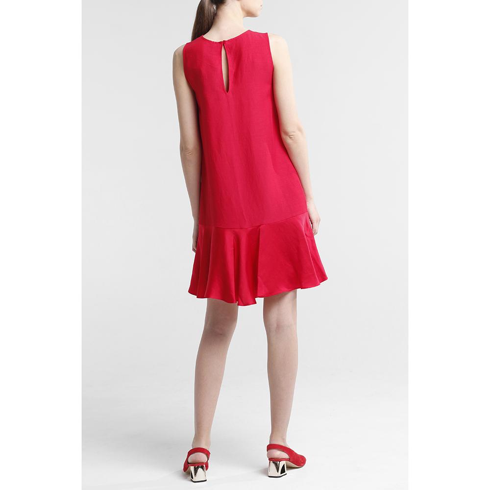 Красное платье Twin-Set с вырезом на спине