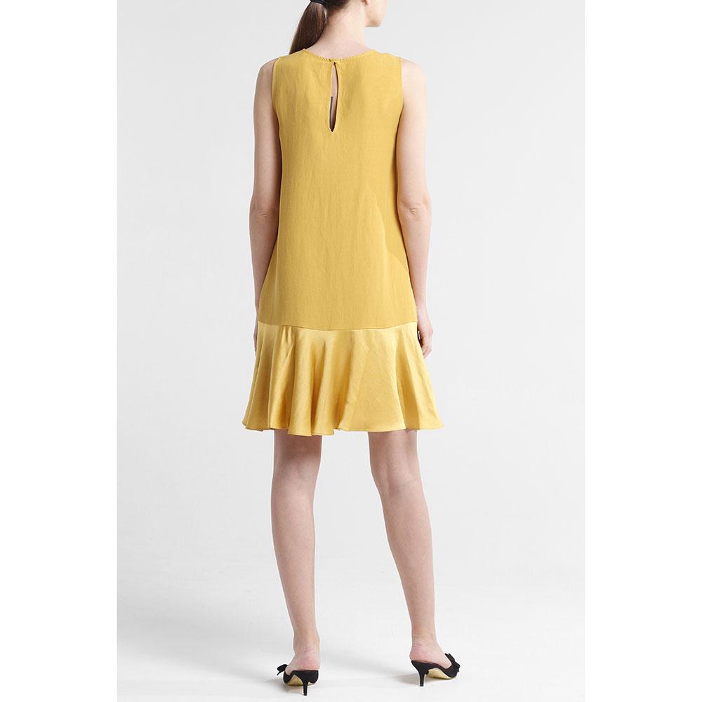 Горчичное платье Twin-Set до колен