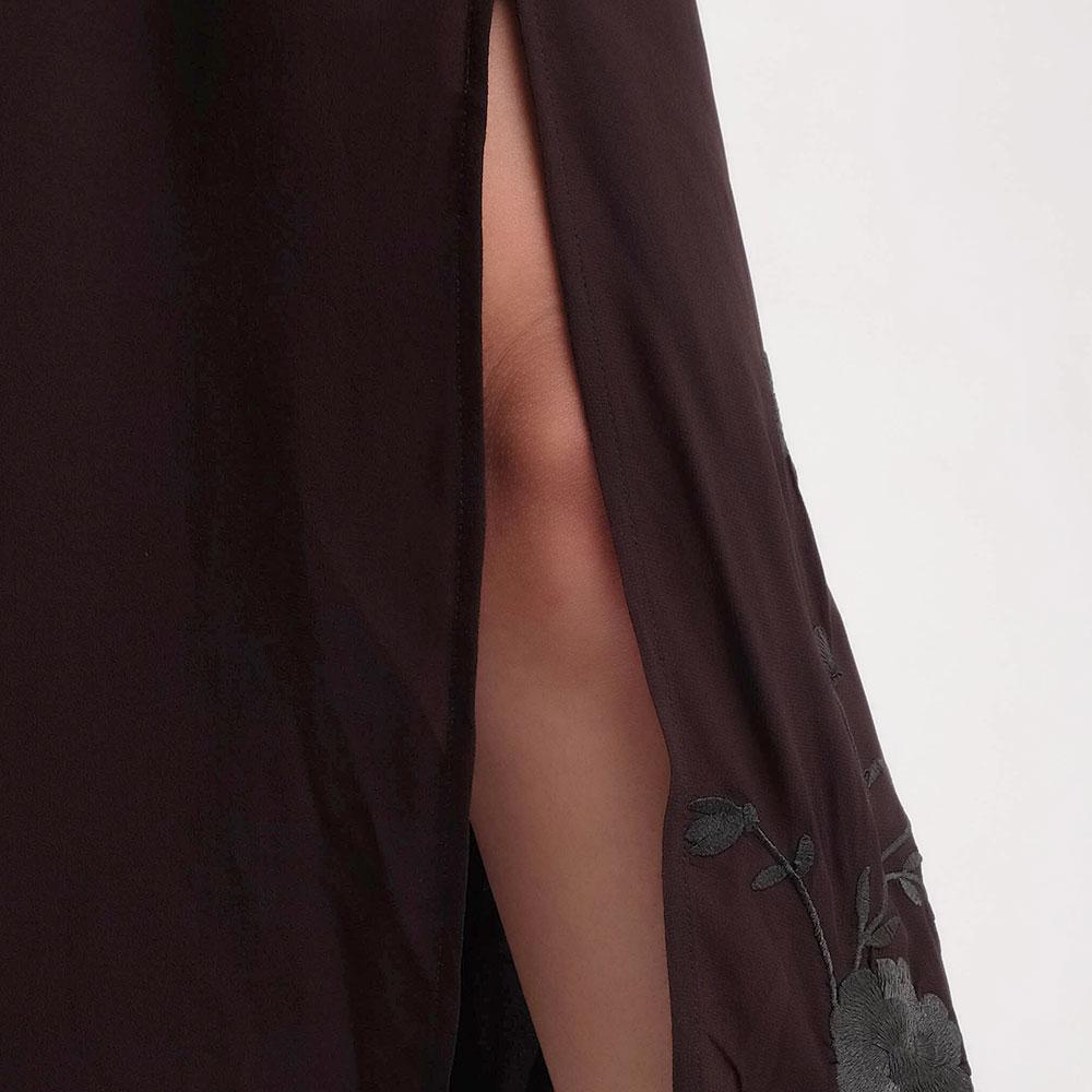 Шифоновое платье Twin-Set черного цвета с вышивкой