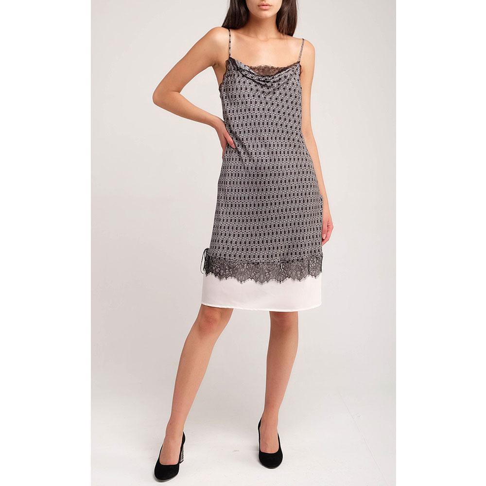 Платье на тонких бретелях Twin-Set с кружевом