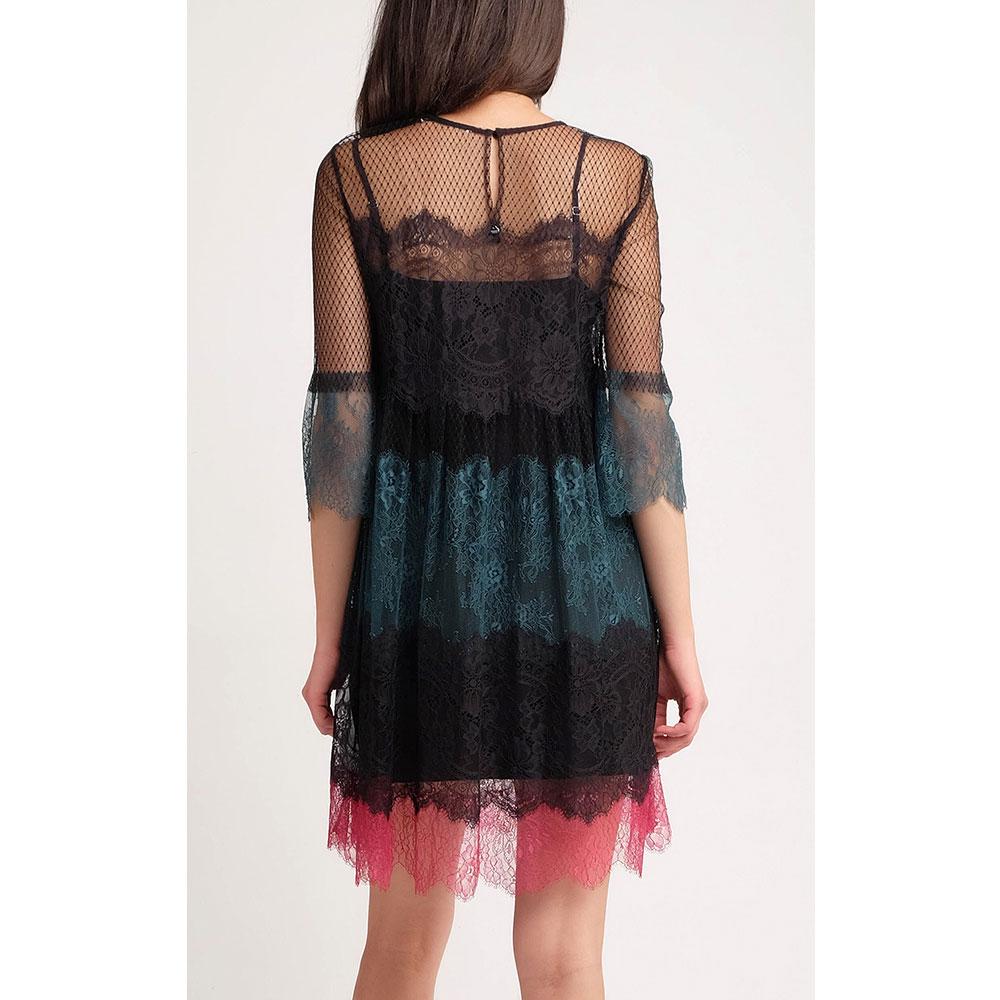 Коктейльное платье Twin-Set с кружевом