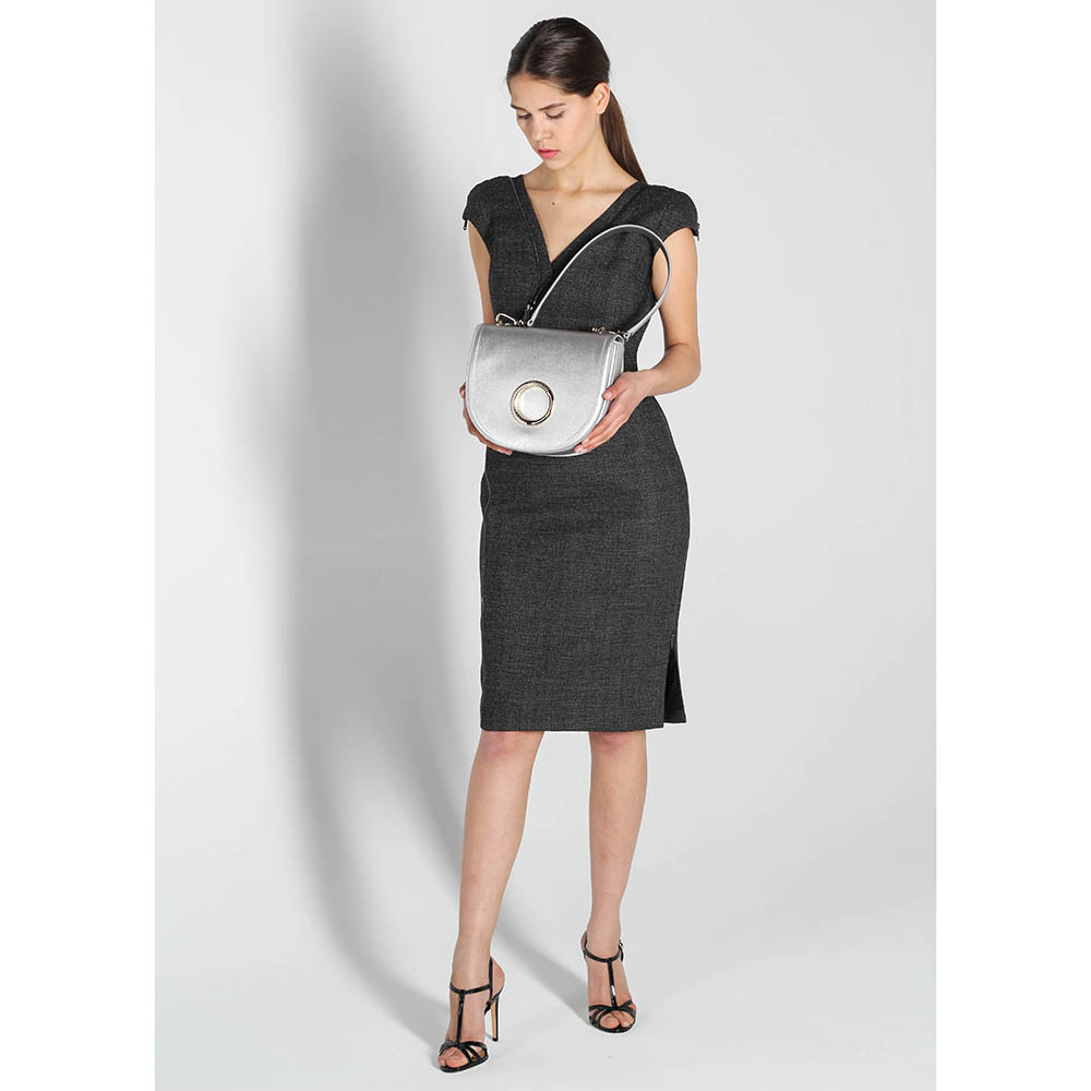 Платье-футляр Antonio Berardi серого цвета