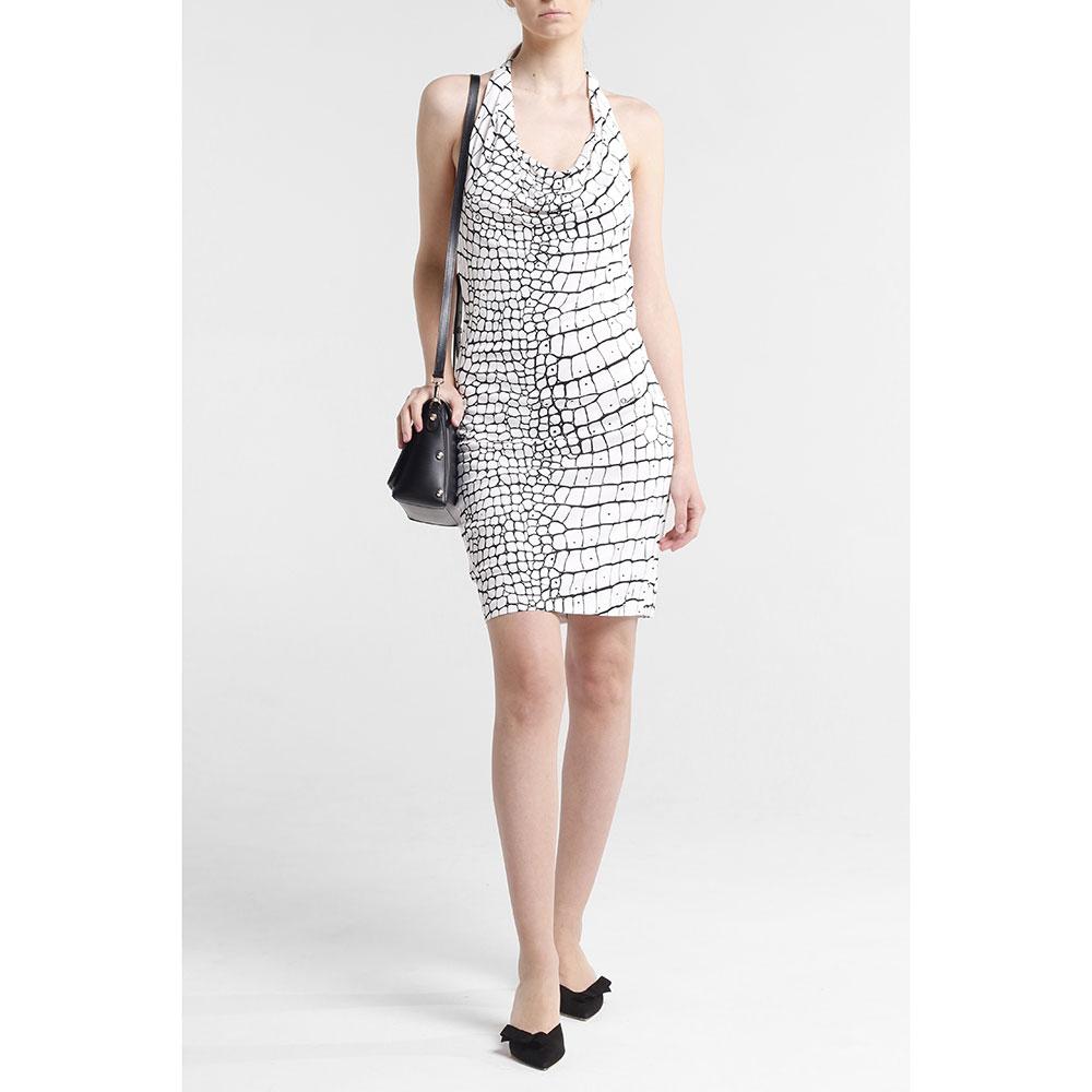 Белое платье Cavalli Class с открытой спиной