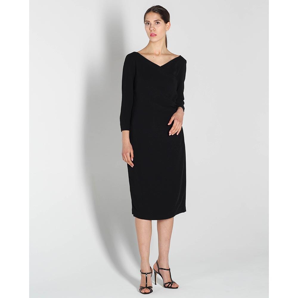 Платье Polo Ralph Lauren черного цвета с укороченным рукавом