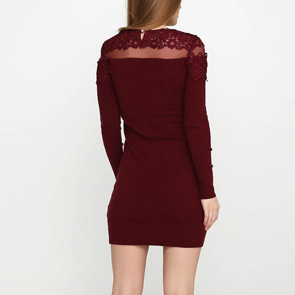 Коктейльное платье Cashmere Company бордового цвета