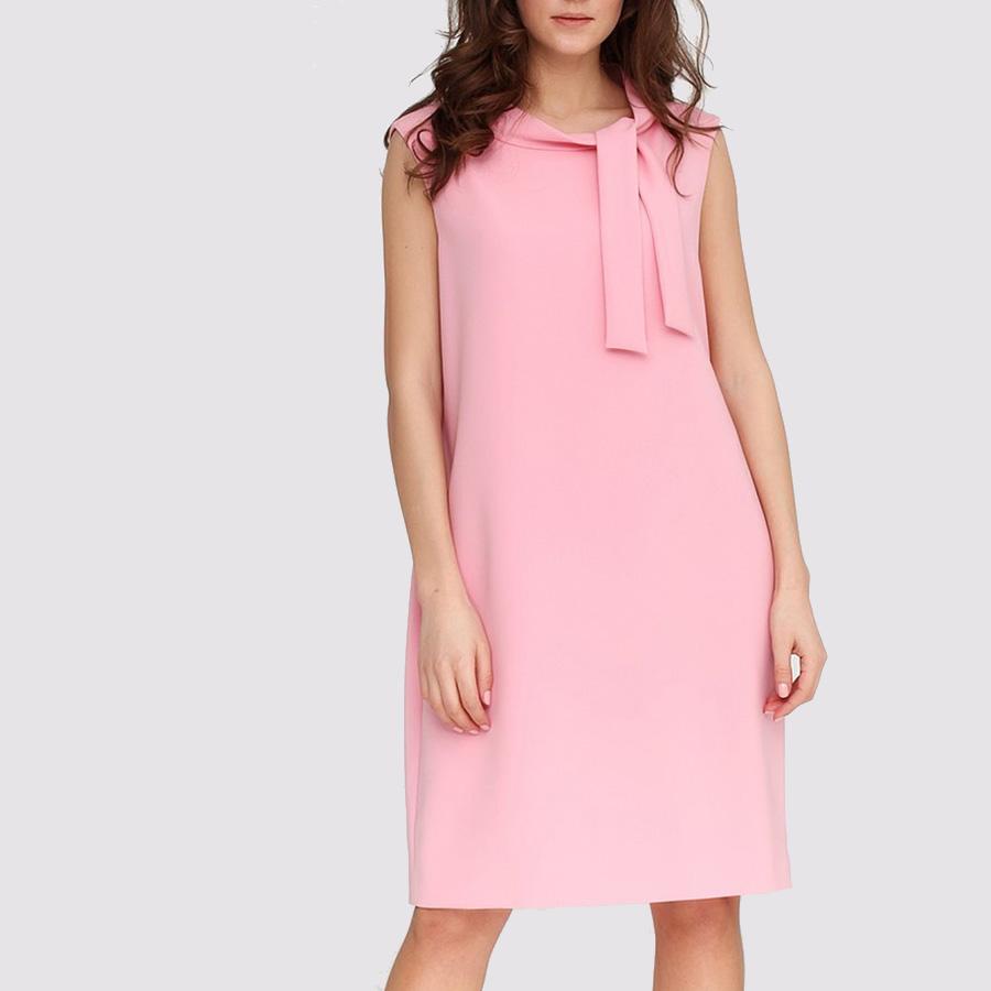 Розовое платье Boutique Moschino со стоячим воротником