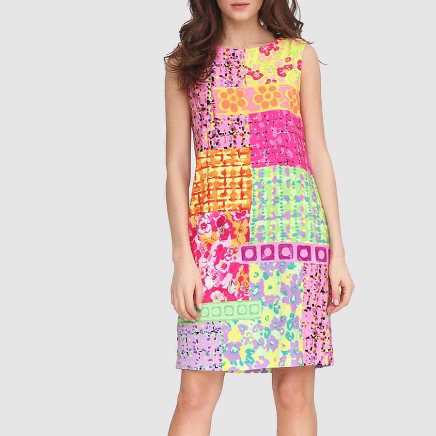 Разноцветное платье Boutique Moschino с ярким принтом