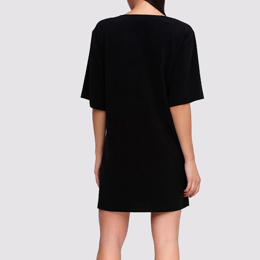 Черное платье-футболка Boutique Moschino с принтом