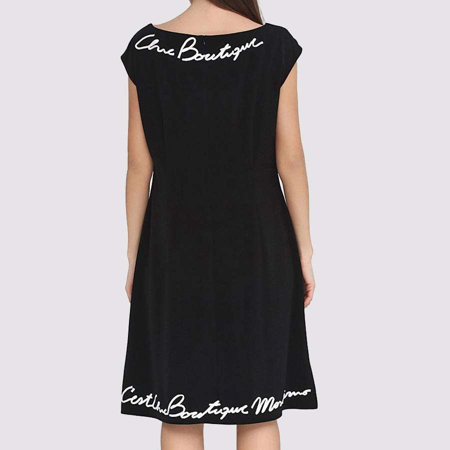 Черное платье Boutique Moschino с белым лого