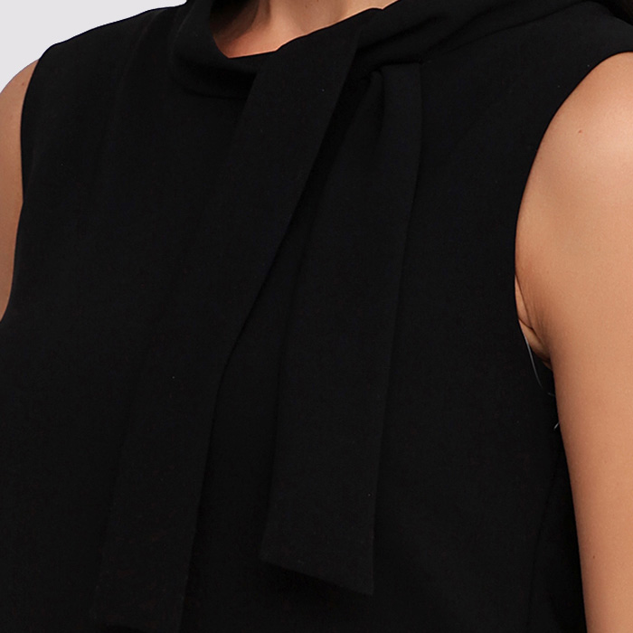 Платье с воротником Boutique Moschino до колен черного цвета