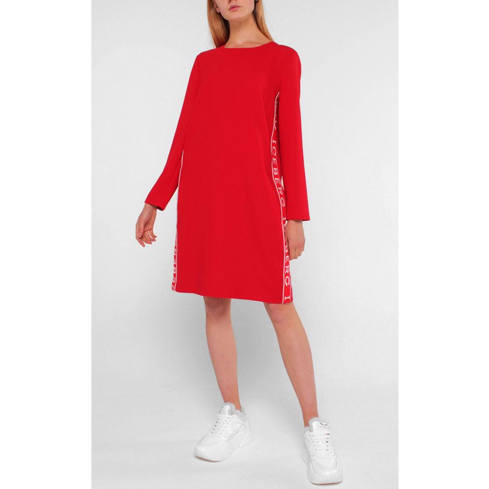 Красное платье Iceberg с фирменным принтом