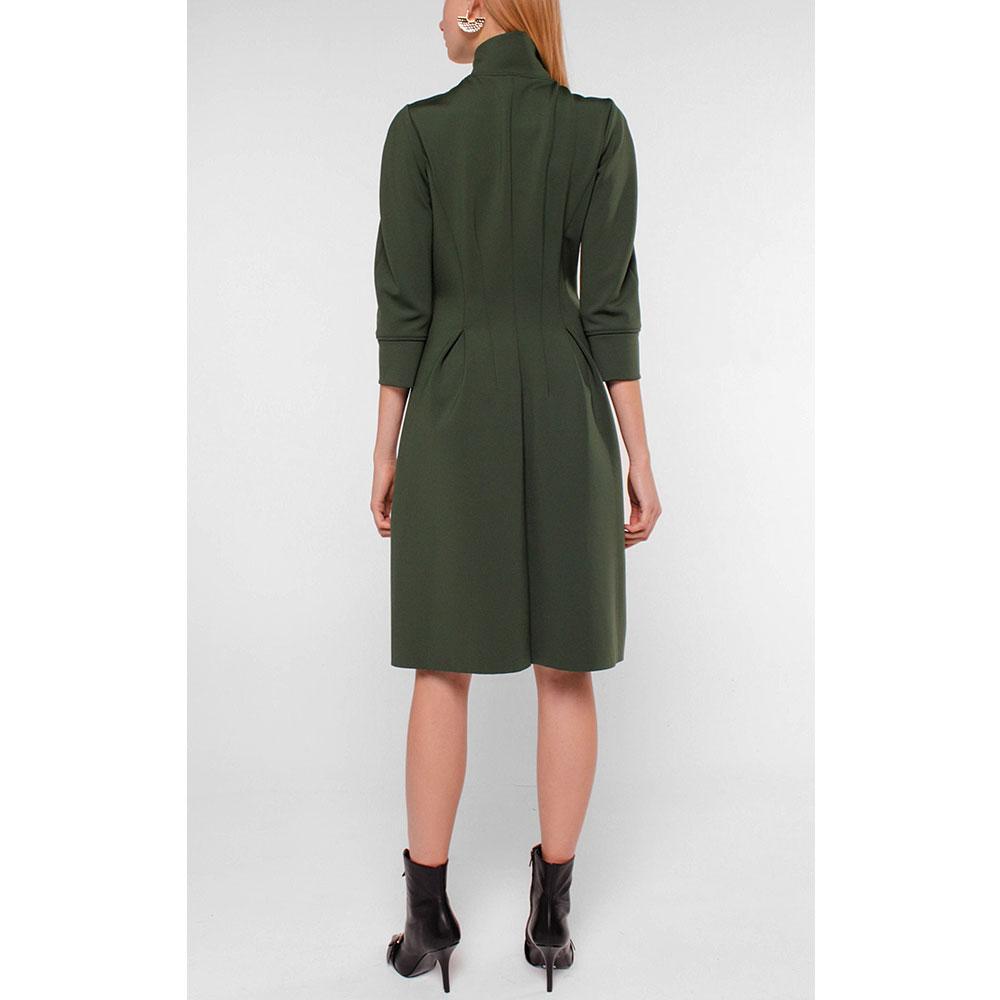 Платье Dorothee Schumacher зеленое на молнии спереди