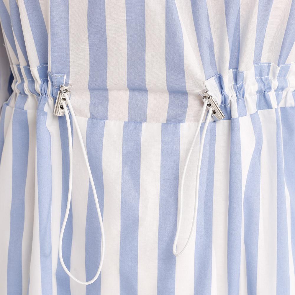 Платье-миди Trussardi Jeans в вертикальную полоску