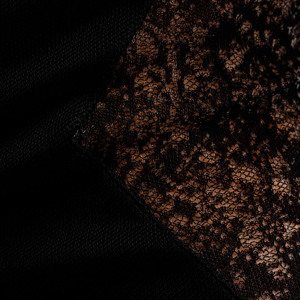 Rружевное платье Balmain с длинным рукавом