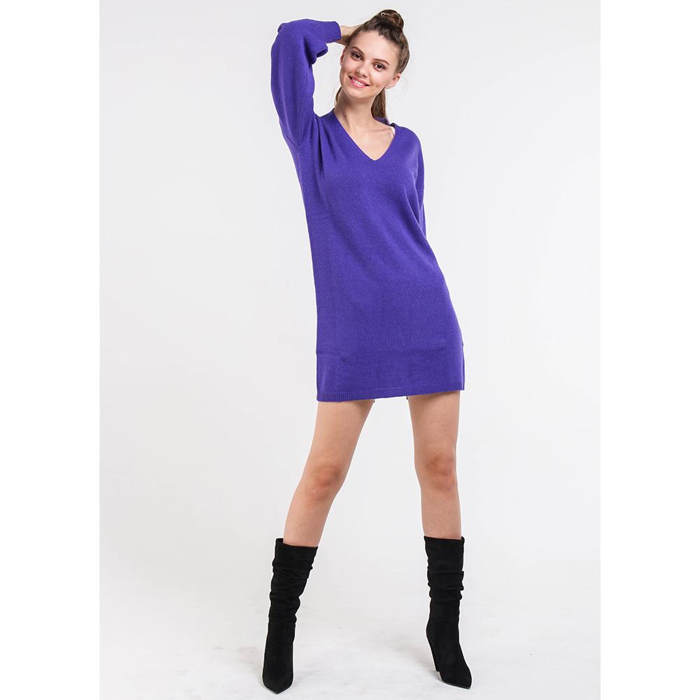 Вязаное платье Blugirl фиолетового цвета