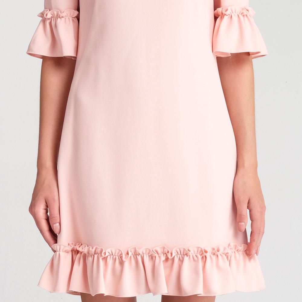 Розовое платье Dolce&Gabbana с рюшами