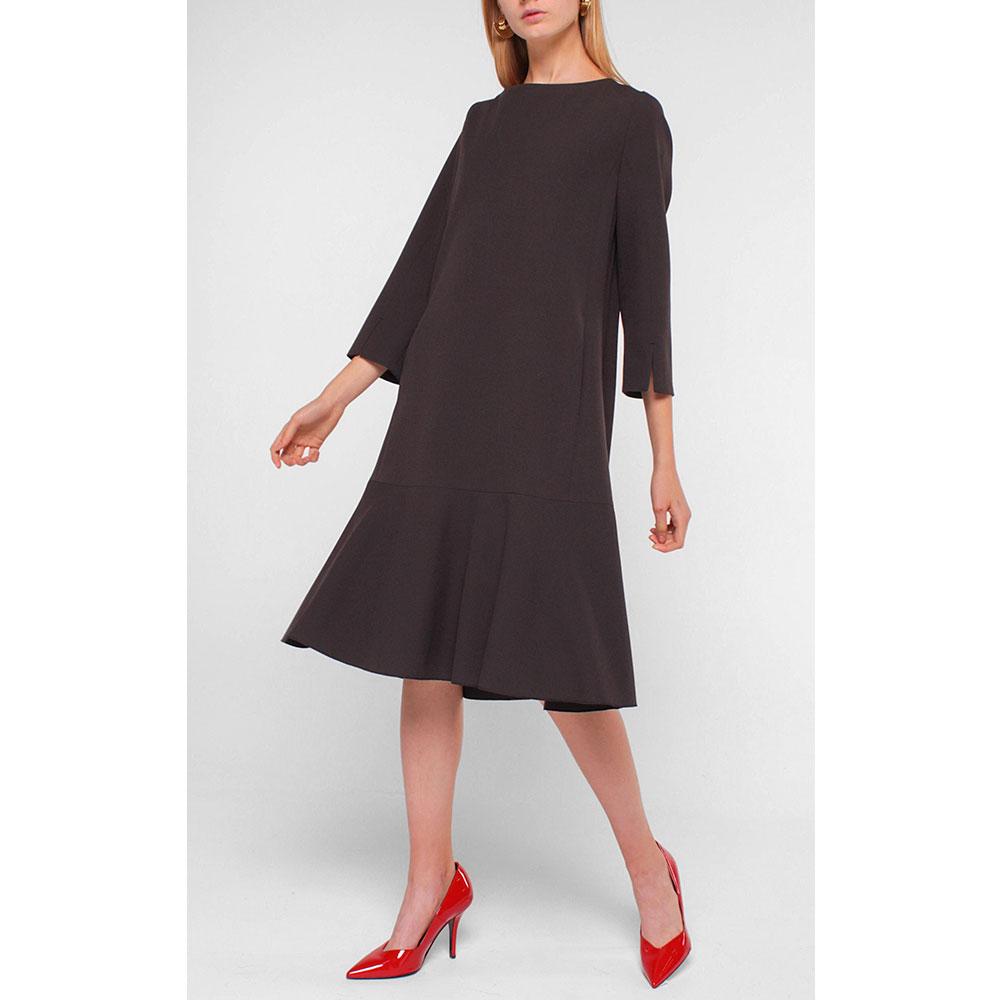 Черное платье Luisa Cerano с разрезами на рукавах
