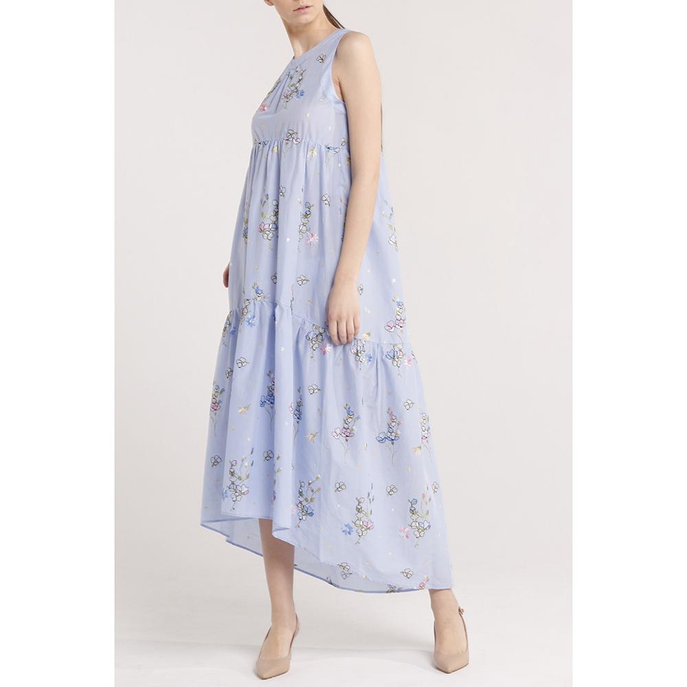 Свободное платье Blugirl Blumarine с цветочным принтом