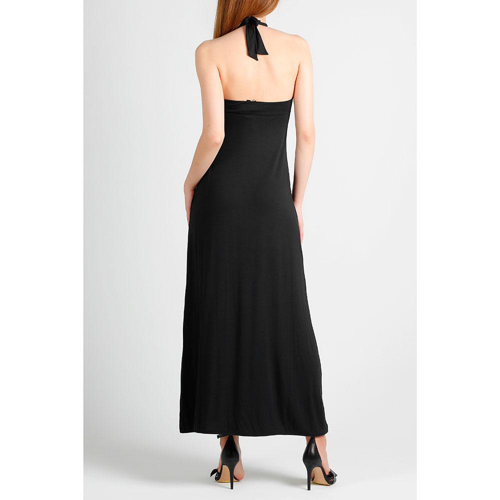 Платье с пайетками Emporio Armani черного цвета