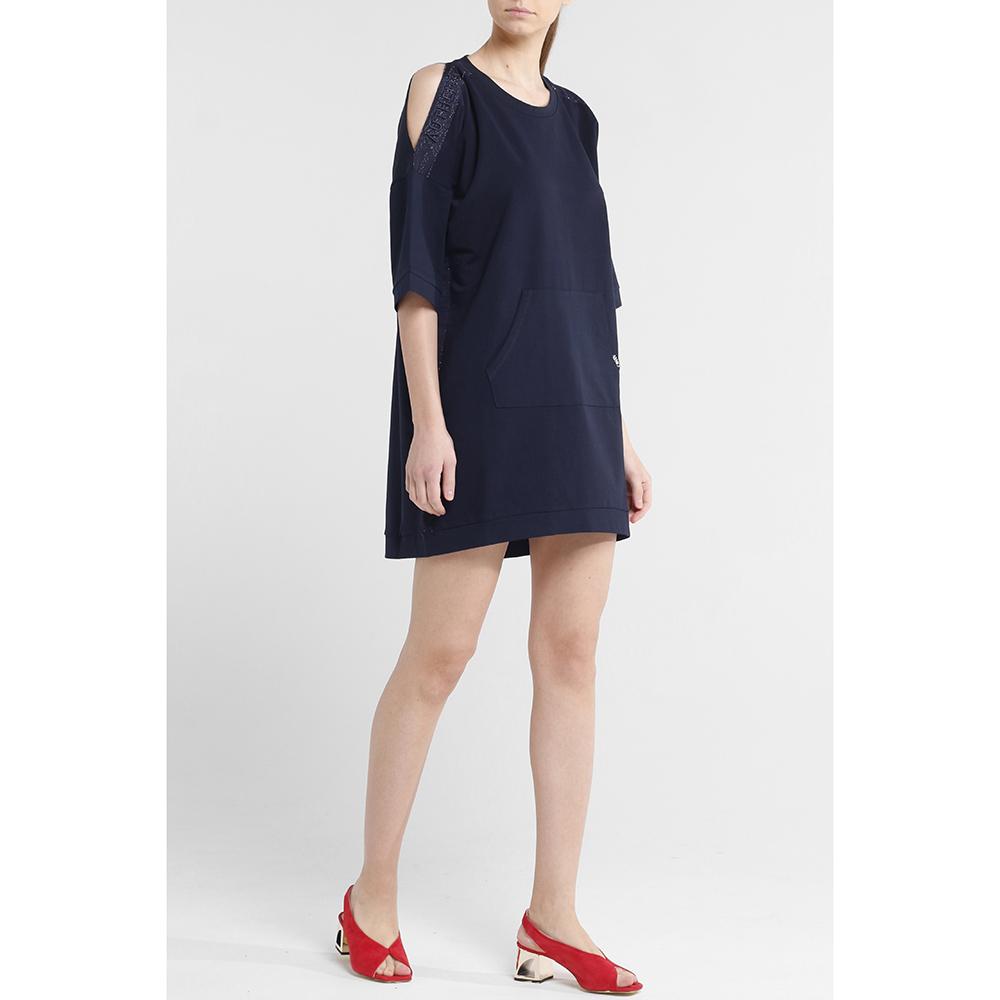 Платье-туника Liu Jo темно-синего цвета