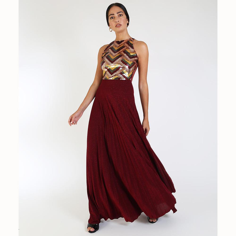 Длинное платье Elisabetta Franchi с пайетками