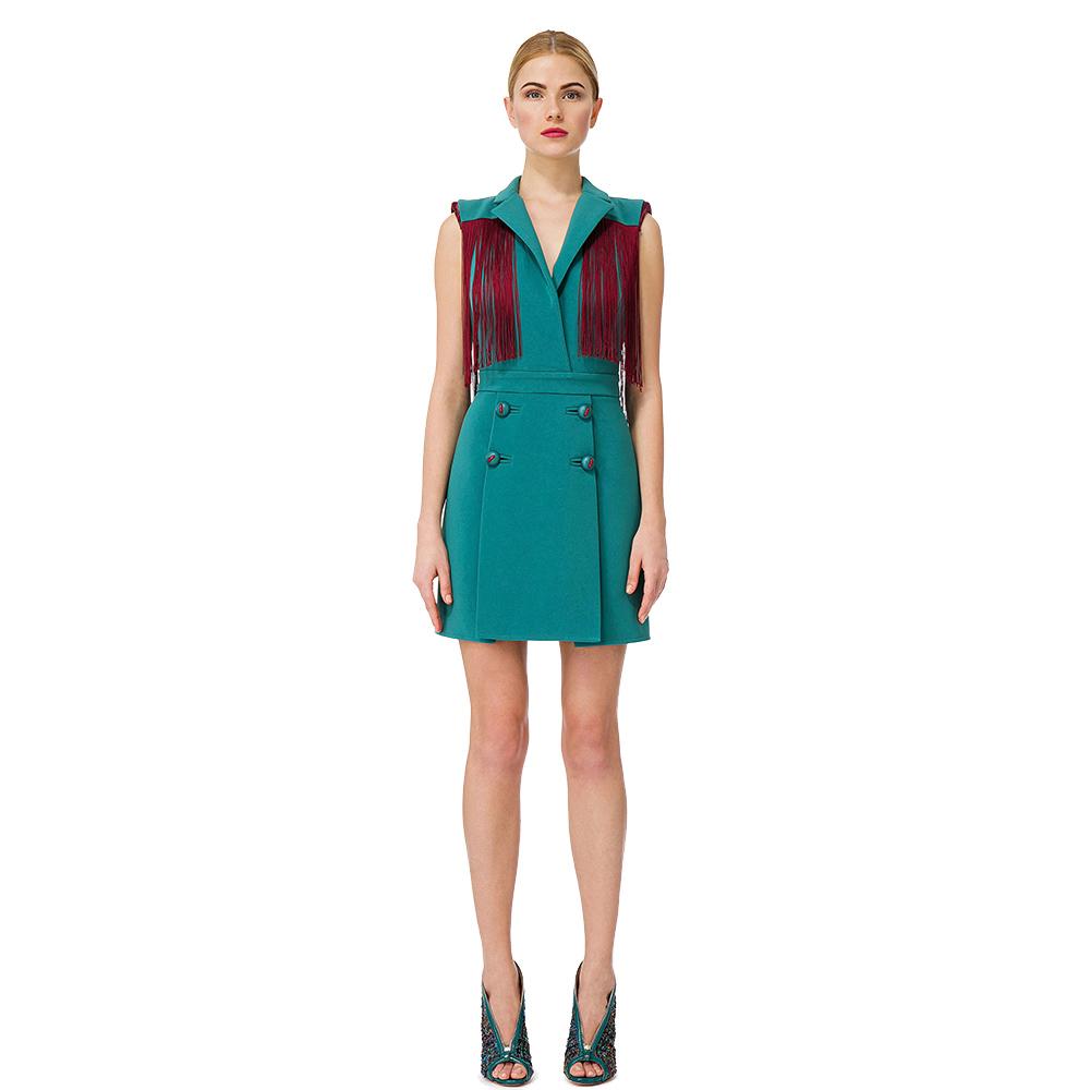 Зеленое платье Elisabetta Franchi до колен