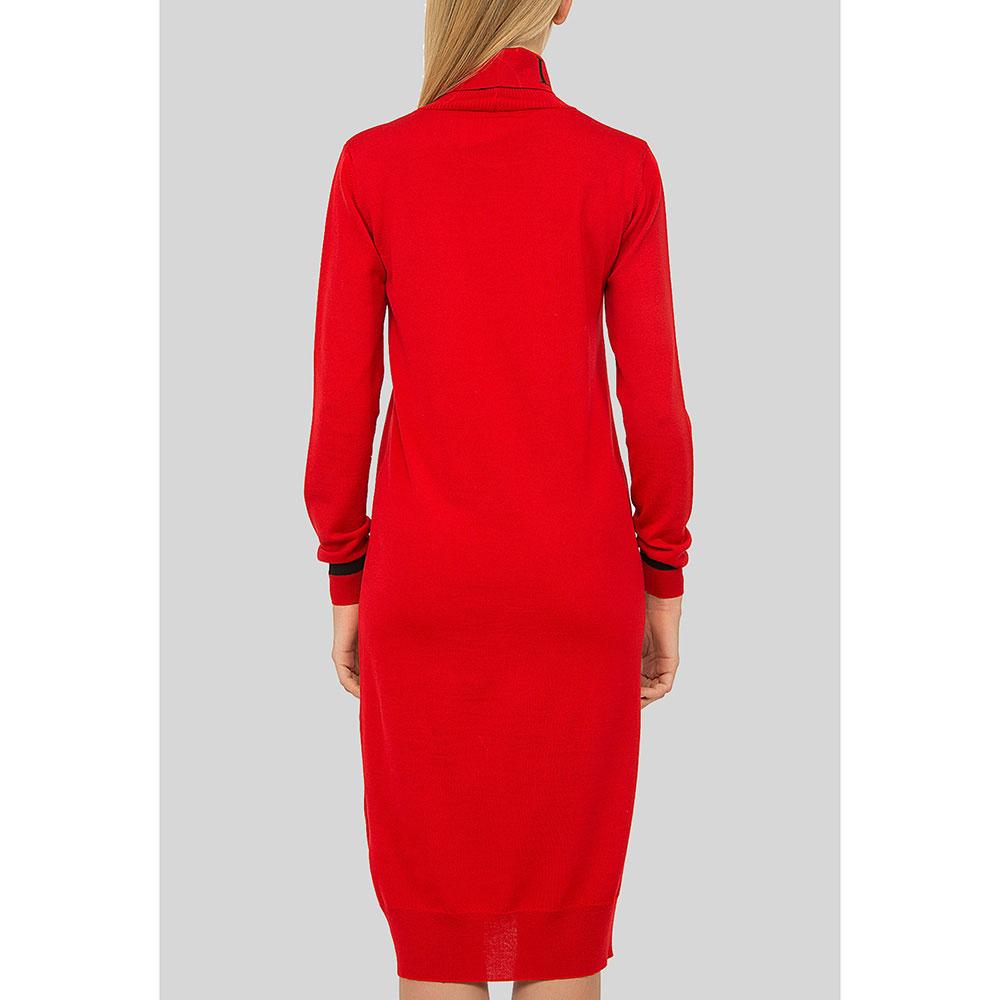 Красное платье Iceberg с длинным рукавом