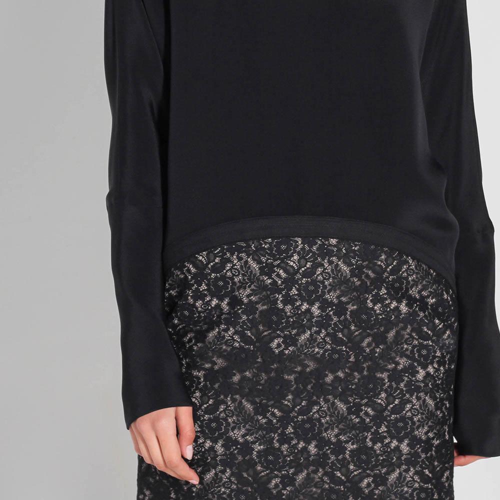 Платье Antonio Berardi черного цвета с принтованной юбкой