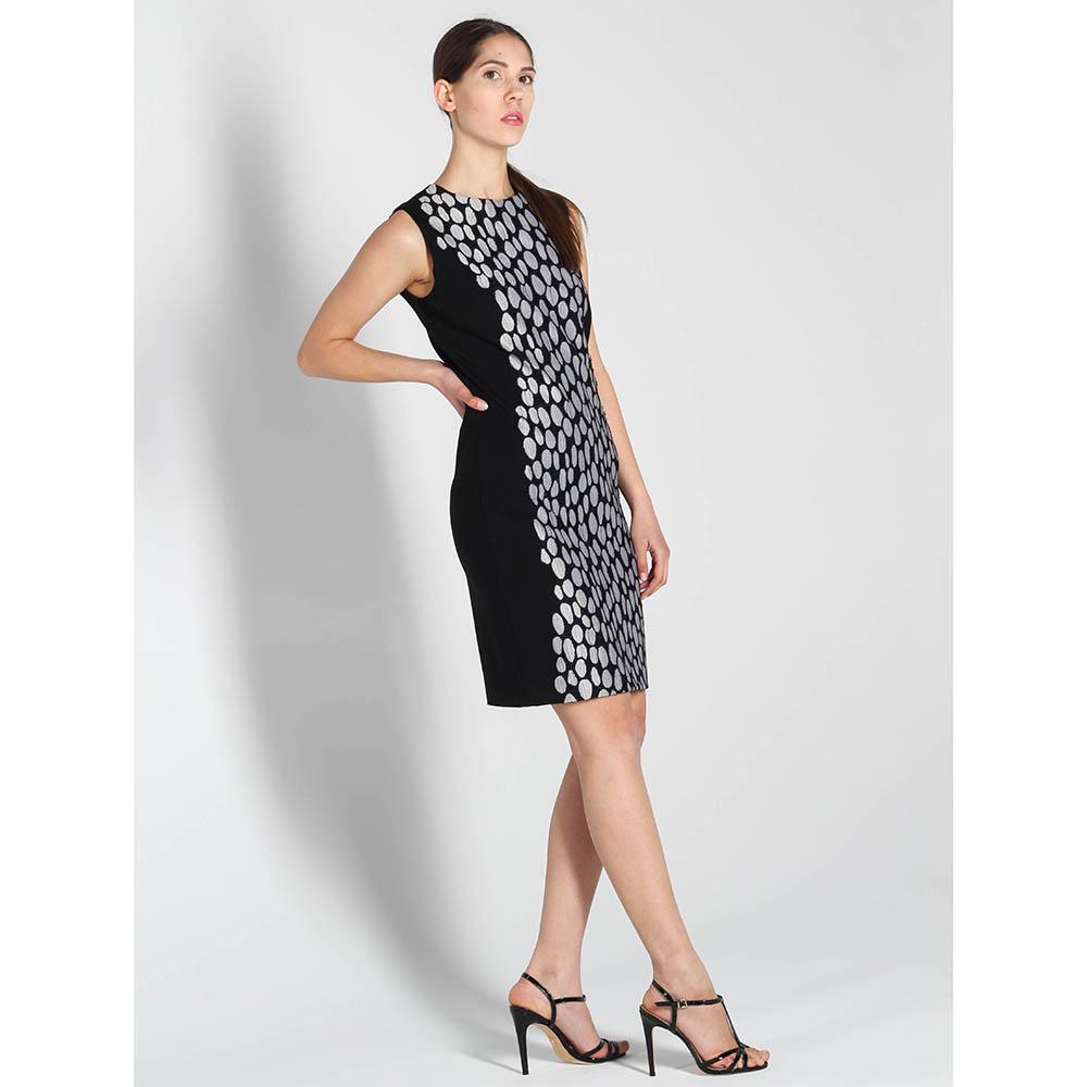 Платье-футляр DVF с серым узором