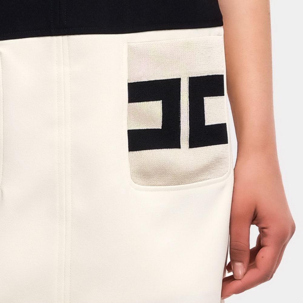 Короткое платье Elisabetta Franchi двухцветное