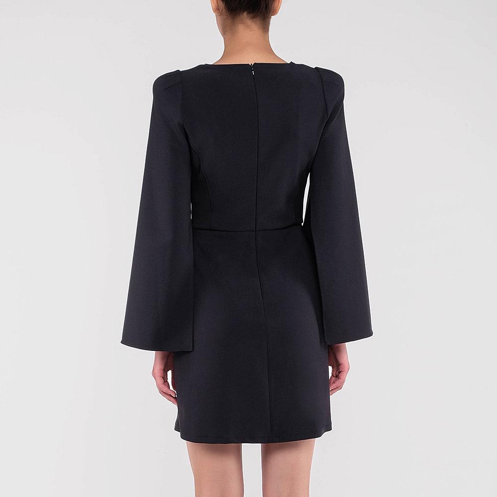 Черное платье Elisabetta Franchi с разрезами на рукавах