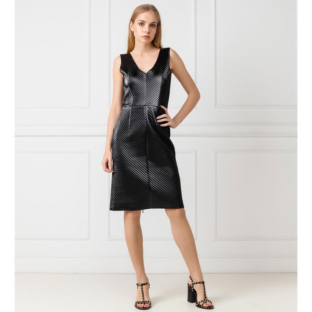 Стеганое платье Emporio Armani на молнии
