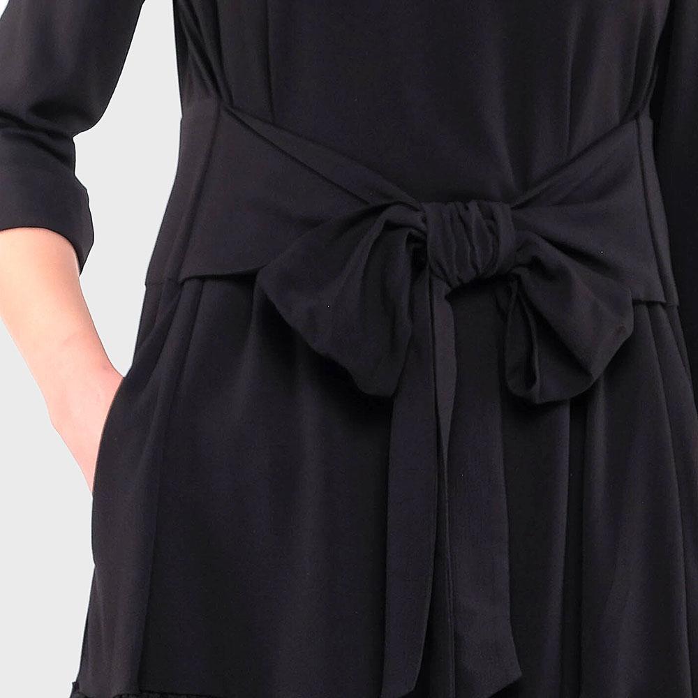 Черное платье Emporio Armani с бантом