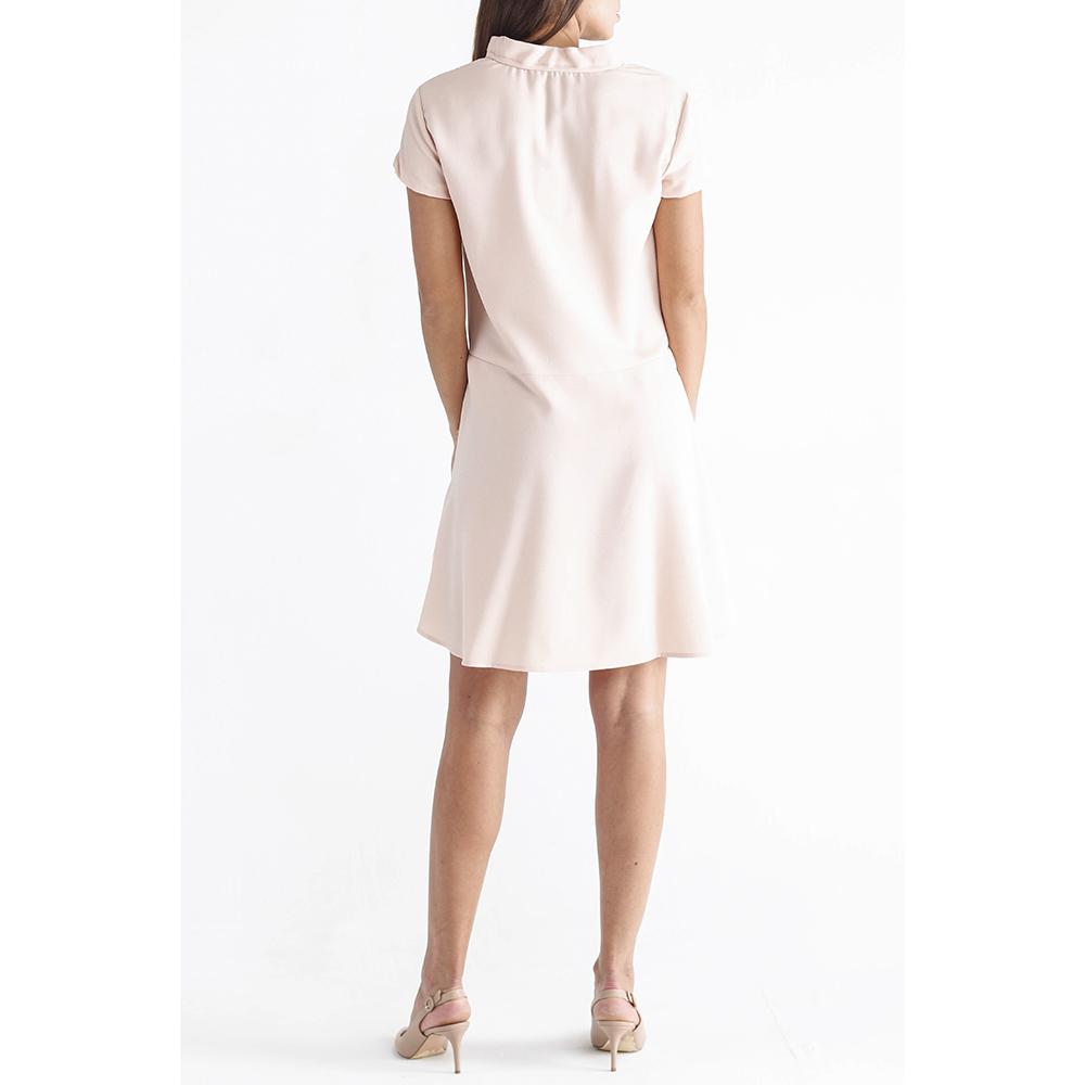 Платье Emporio Armani пудрового цвета до колен
