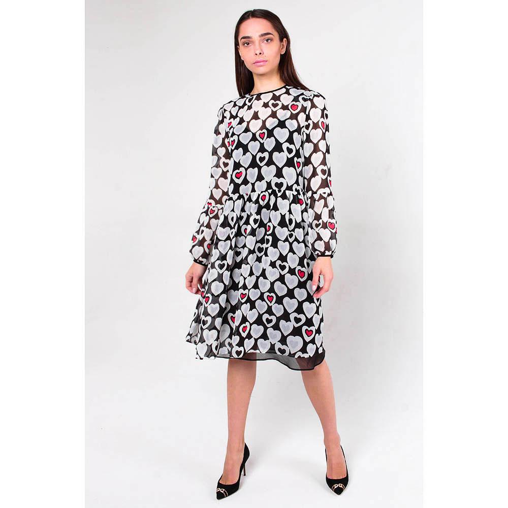 Платье Emporio Armani в принт с сердцами