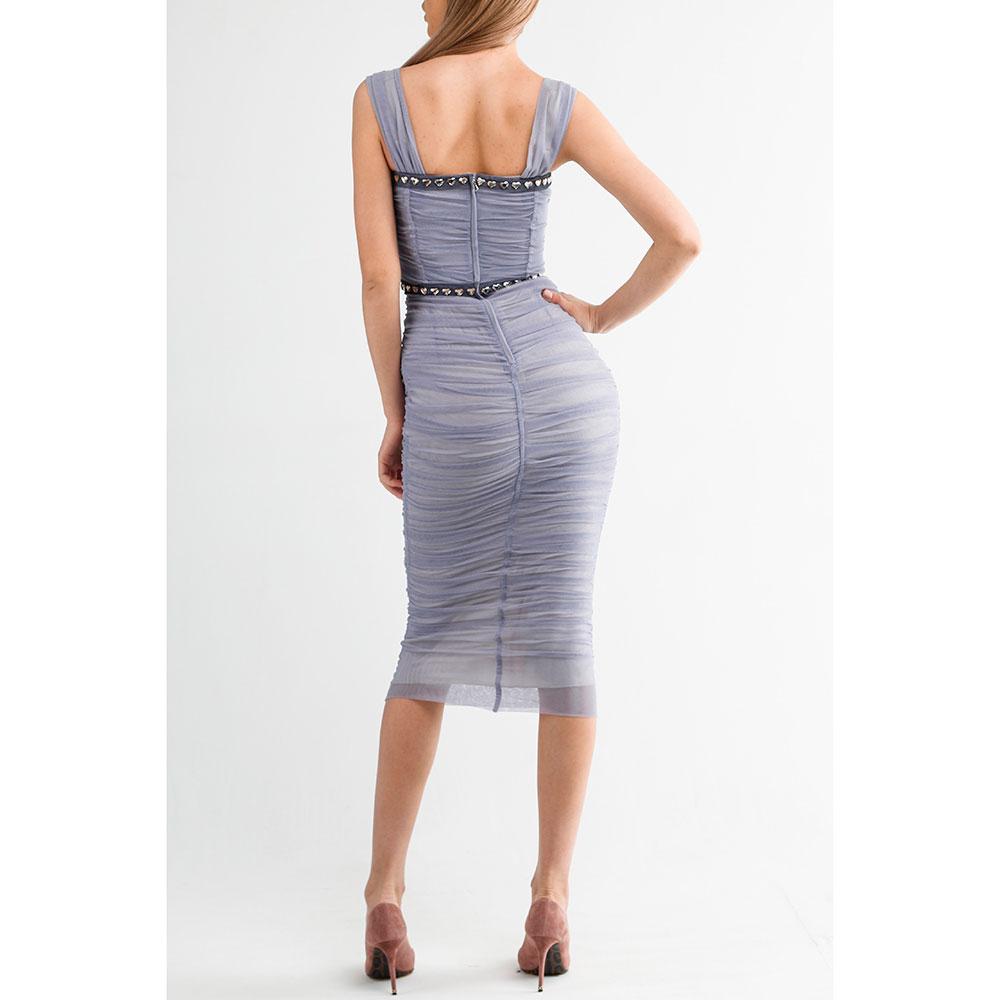 Приталенное платье Dolce&Gabbana сиреневого цвета