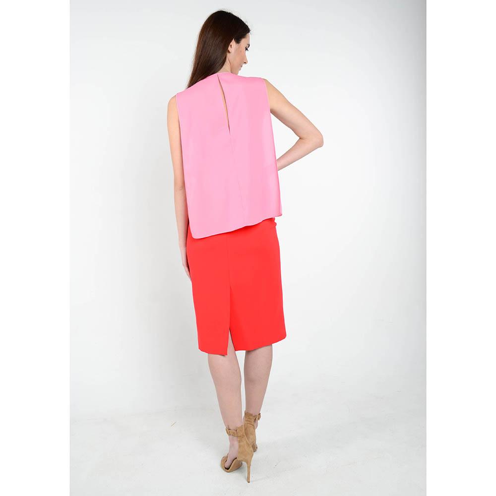Платье без рукавов Iceberg красного цвета