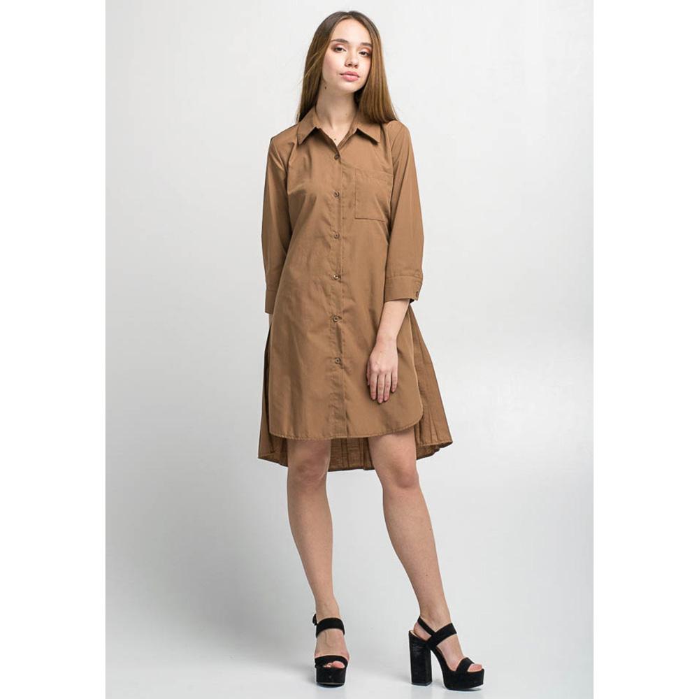 Платье-рубашка Kaos коричневого цвета
