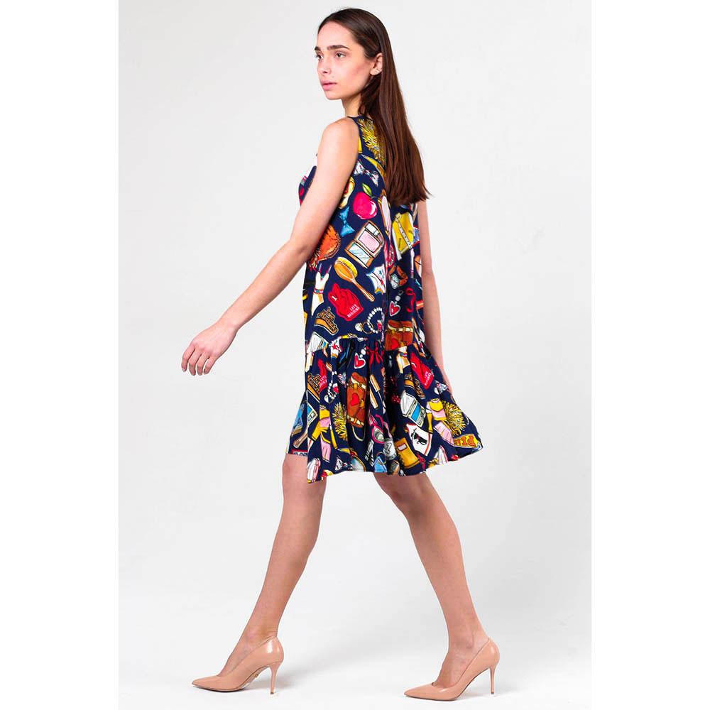 Свободное платье Love Moschino с принтом