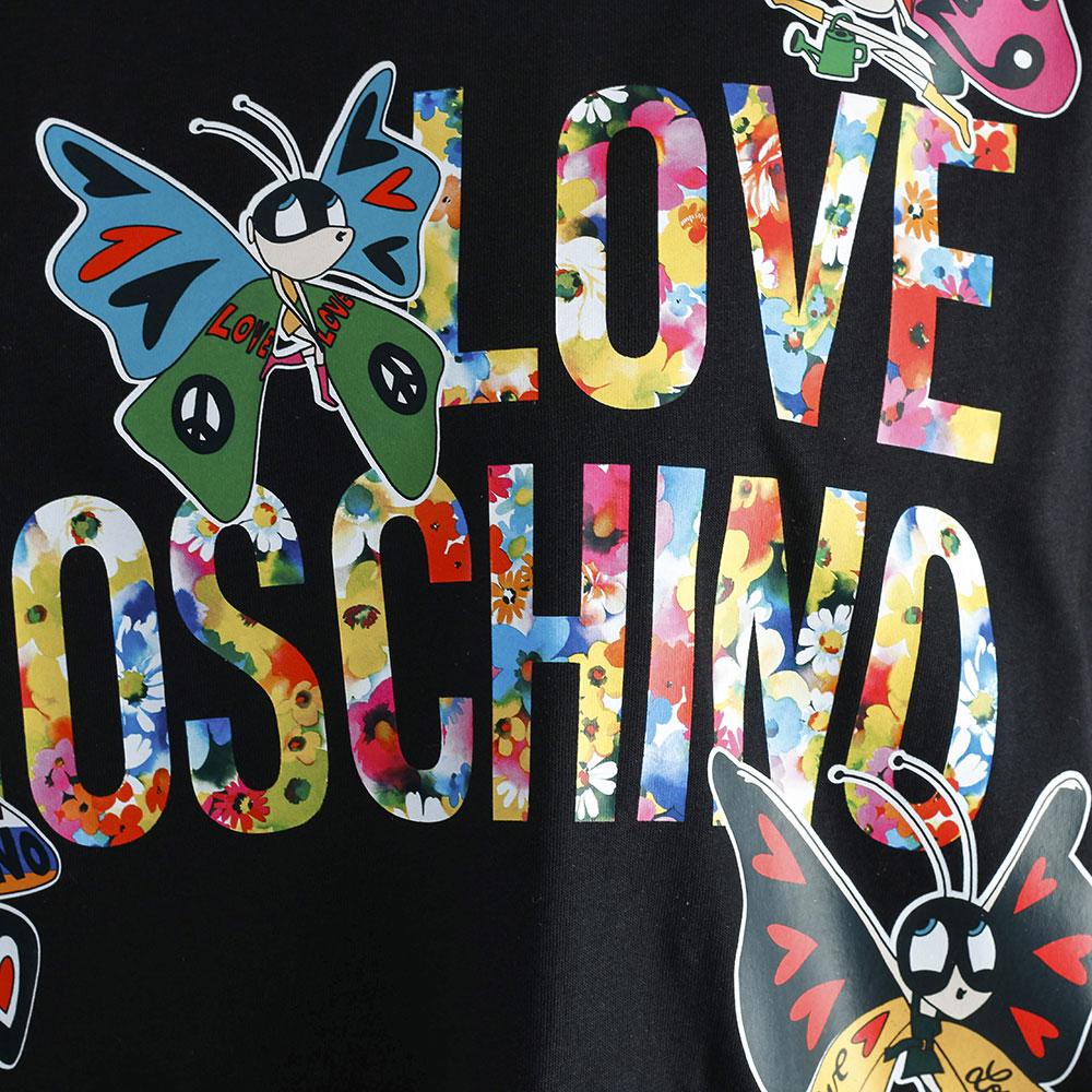 Черное платье Love Moschino с ярким принтом