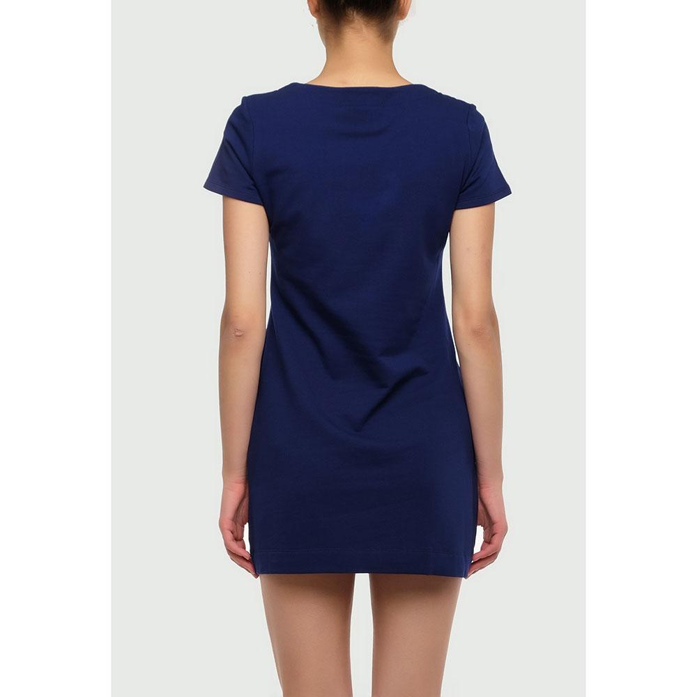 Синее платье Love Moschino с принтом
