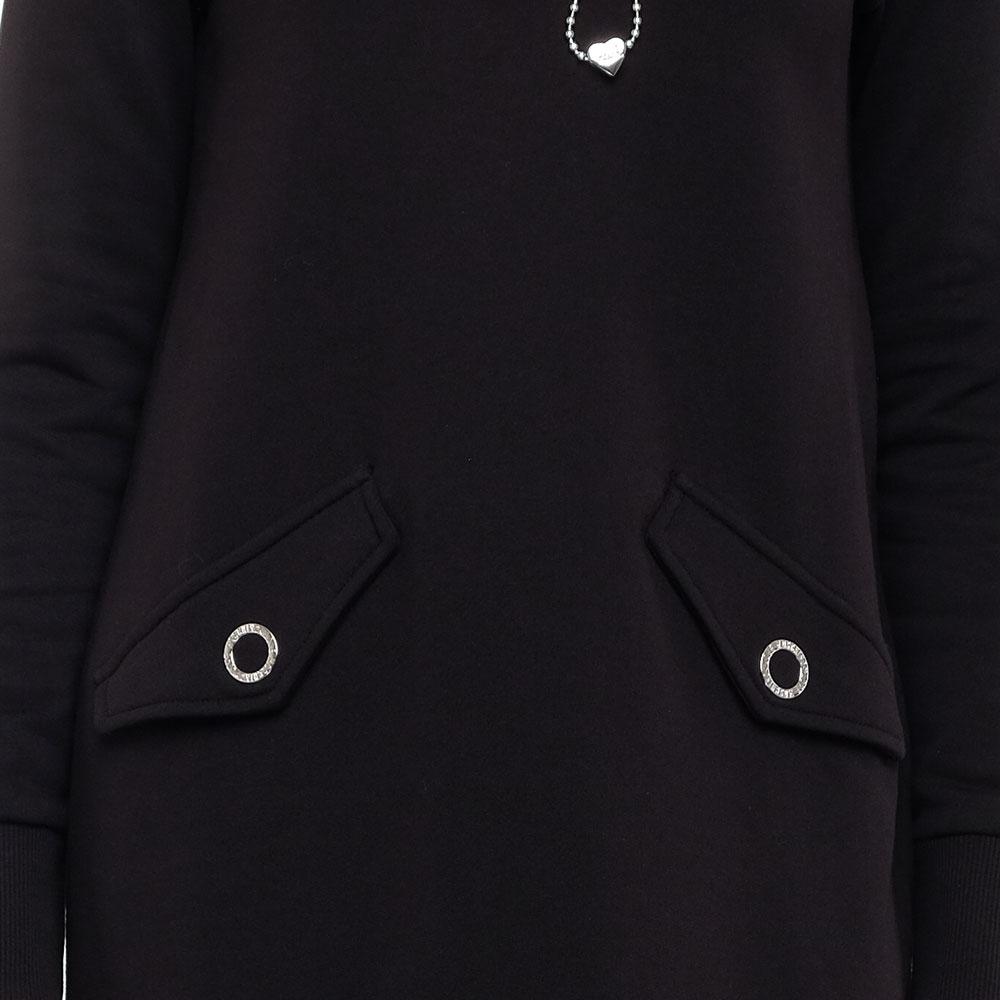 Черное платье Love Moschino с длинным рукавом