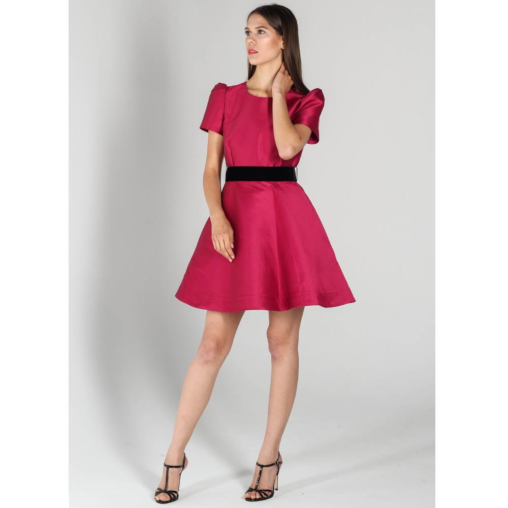 Платье-беби долл P.A.R.O.S.H. цвета фуксии с черным поясом