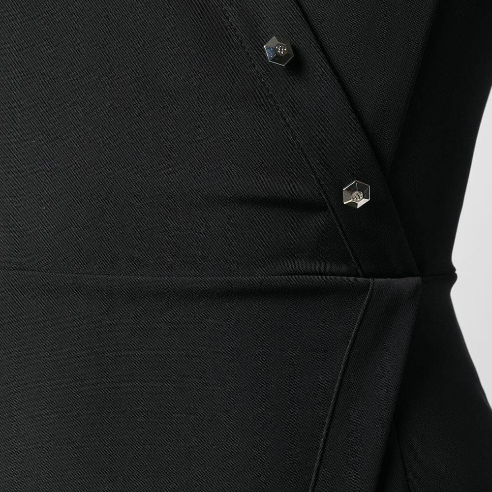Платье на запах Philipp Plein с серебристым декором